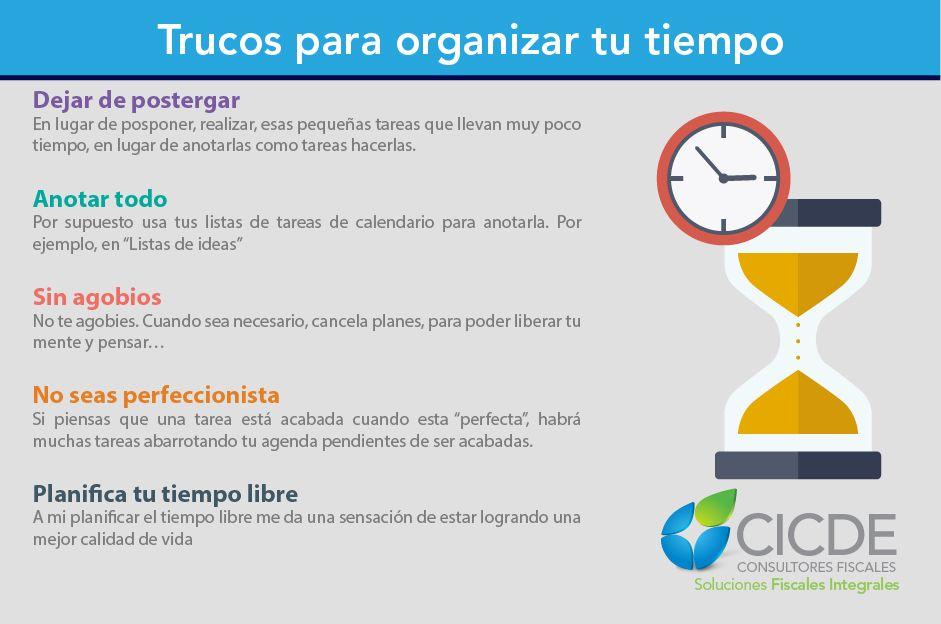 Trucos para organizar el tiempo
